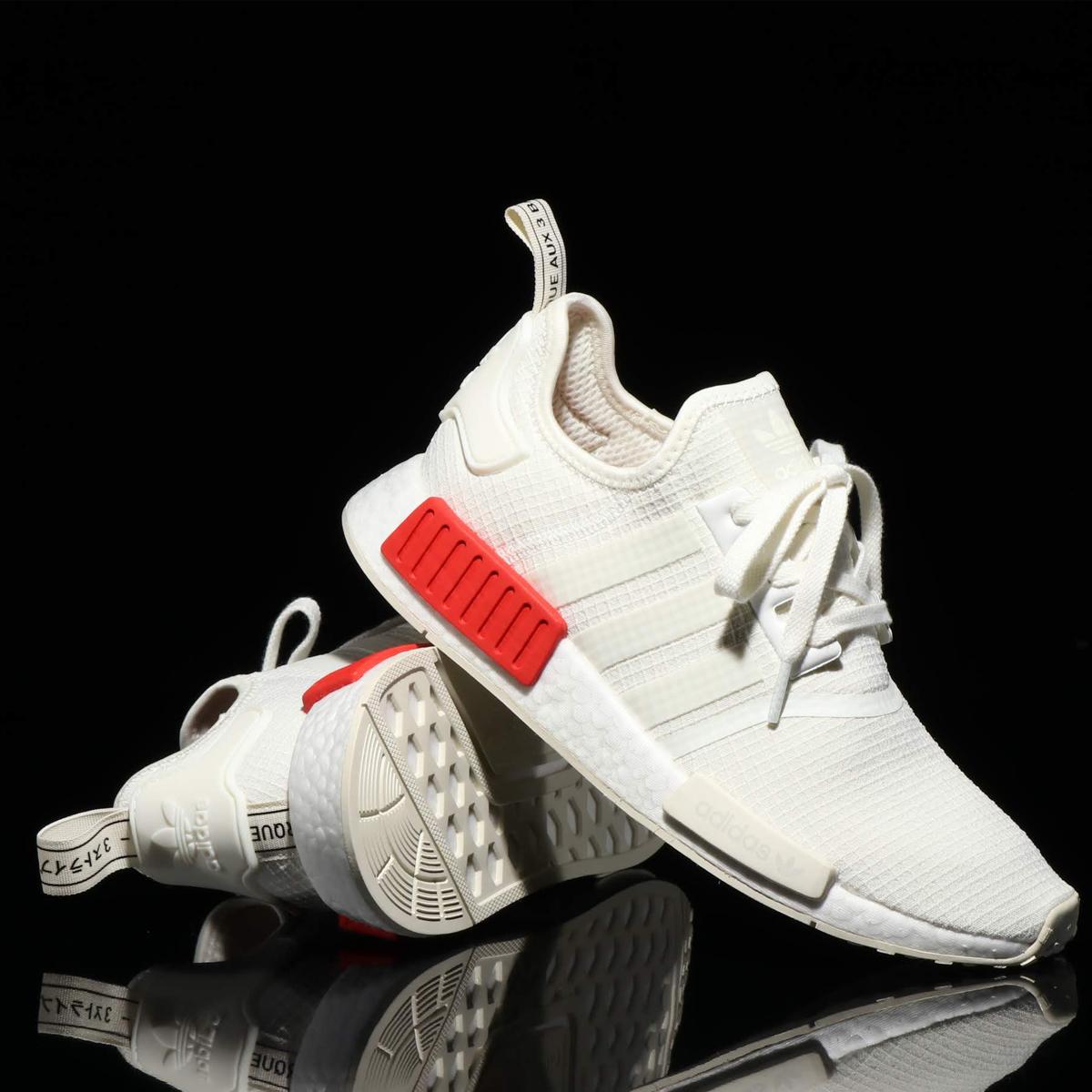 5682ce93f adidas Originals NMD R1 (アディダス オリジナルス エヌエムディR1) OFF WHITE OFF WHITE RUSH RED   メンズ レディース スニーカー  18FW-I