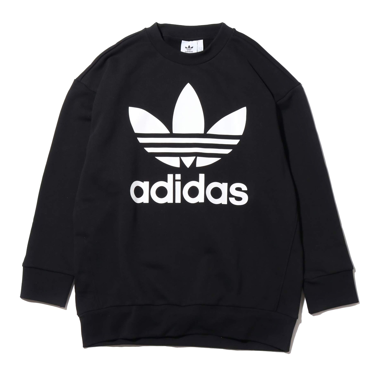 adidas Originals TREFOIL OVERSIZED CREW (アディダス オリジナルス トレフォイル オーバーサイズクルー) Black【メンズ パーカー】18FW-I