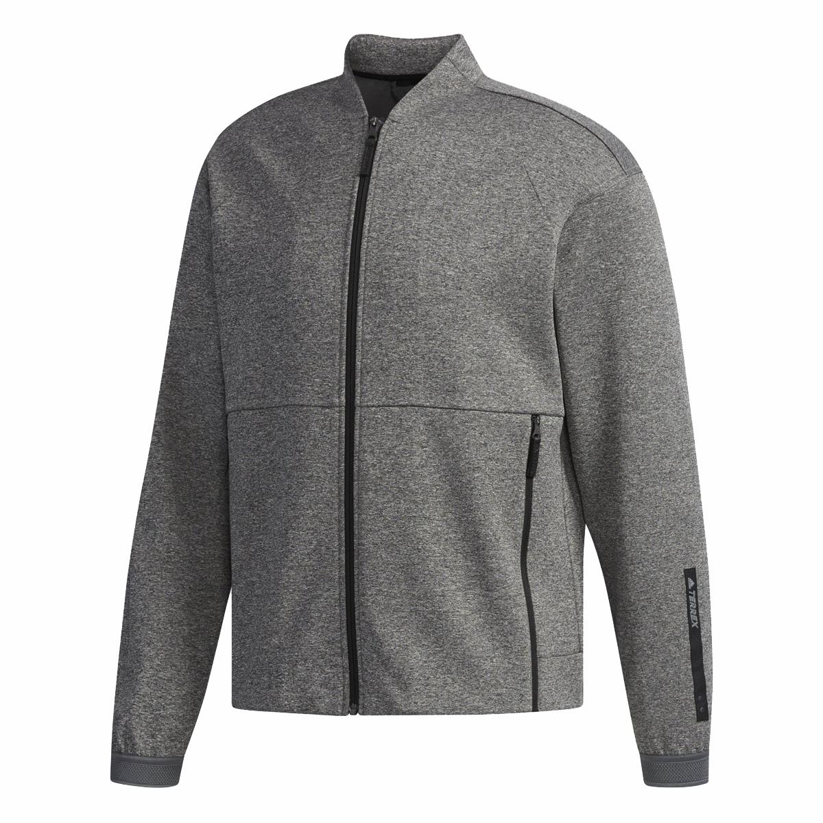 adidas CAP KNIT BOMBER(アディダス CAPニットボンバー)MEDIUM GREY HEATHER【メンズ ジャケット】18FW-I