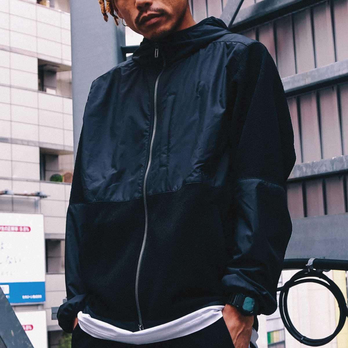 adidas M HB JK atmos (アディダス M HB JK アトモス)BLACK【メンズ ジャケット】18FW-S