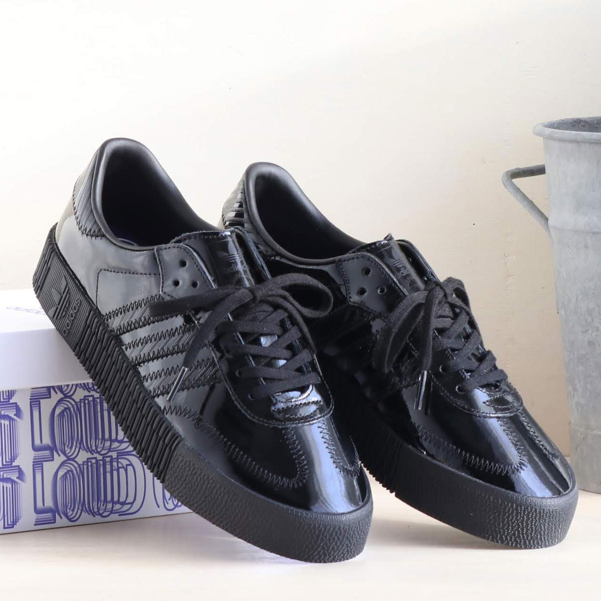 adidas Originals SAMBAROSE W(アディダスオリジナルス サンバローズ W)CORE BLACK/CORE BLACK/ACTIVE PURPLE【メンズ レディース スニーカー】19SS-I