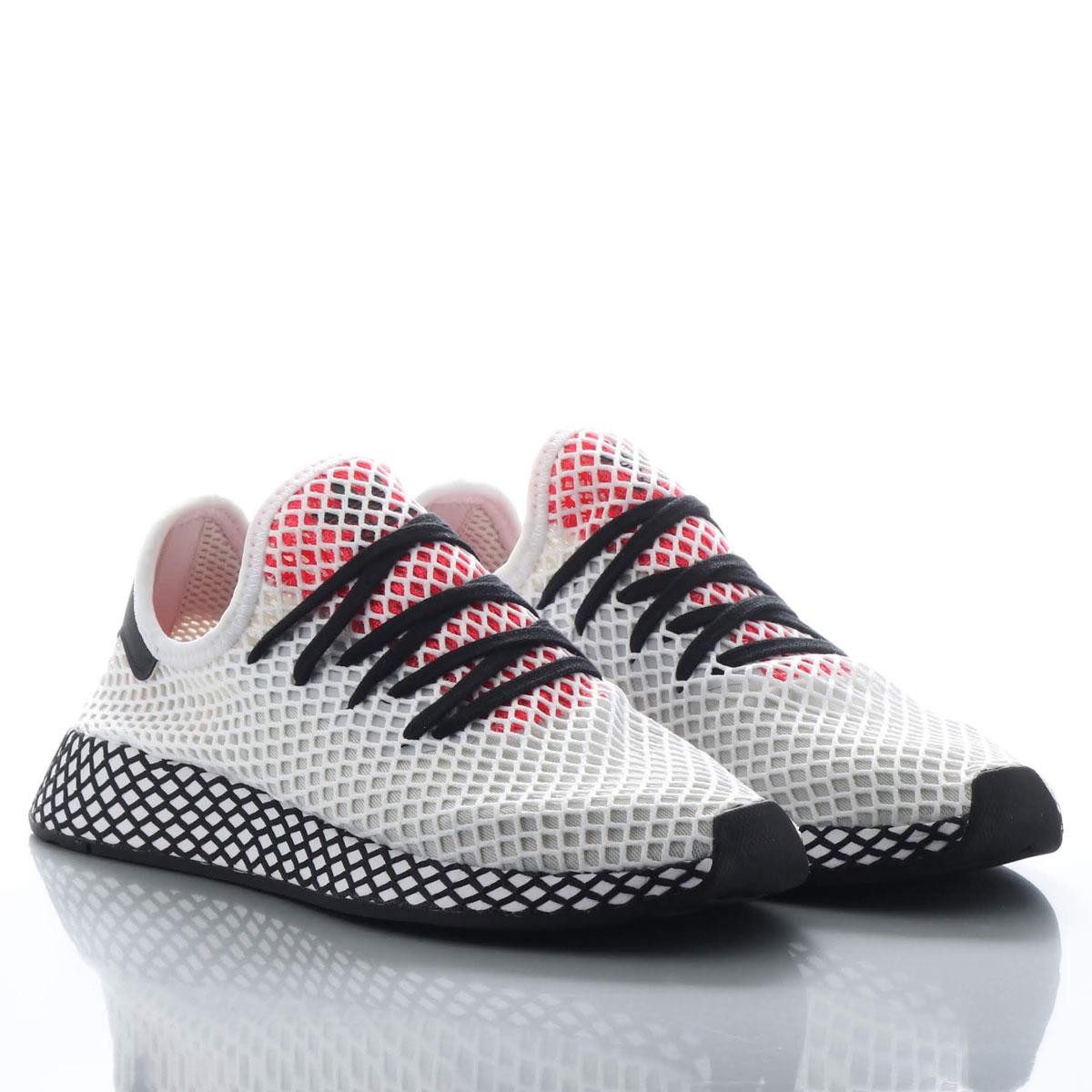 adidas Originals DEERUPT RUNNER(アディダスオリジナルス ディーラプト ランナー)RUNNING WHITE/CORE BLACK/SHOCK RED【メンズ レディース スニーカー】19SS-I