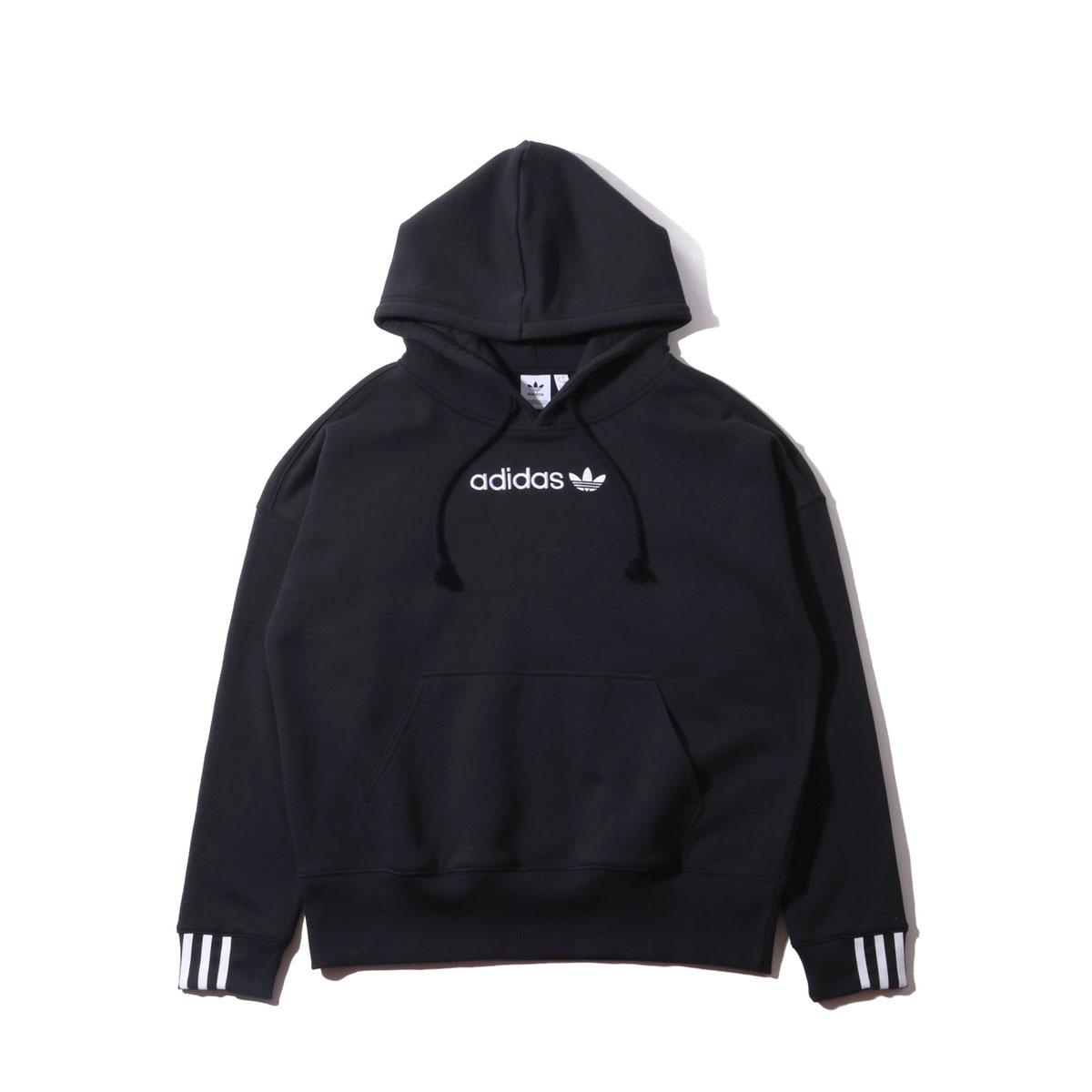 adidas Originals COEEZE HOODIE (アディダスオリジナルス COEEZE フーディー) BLACK【レディース パーカー】19SS-S