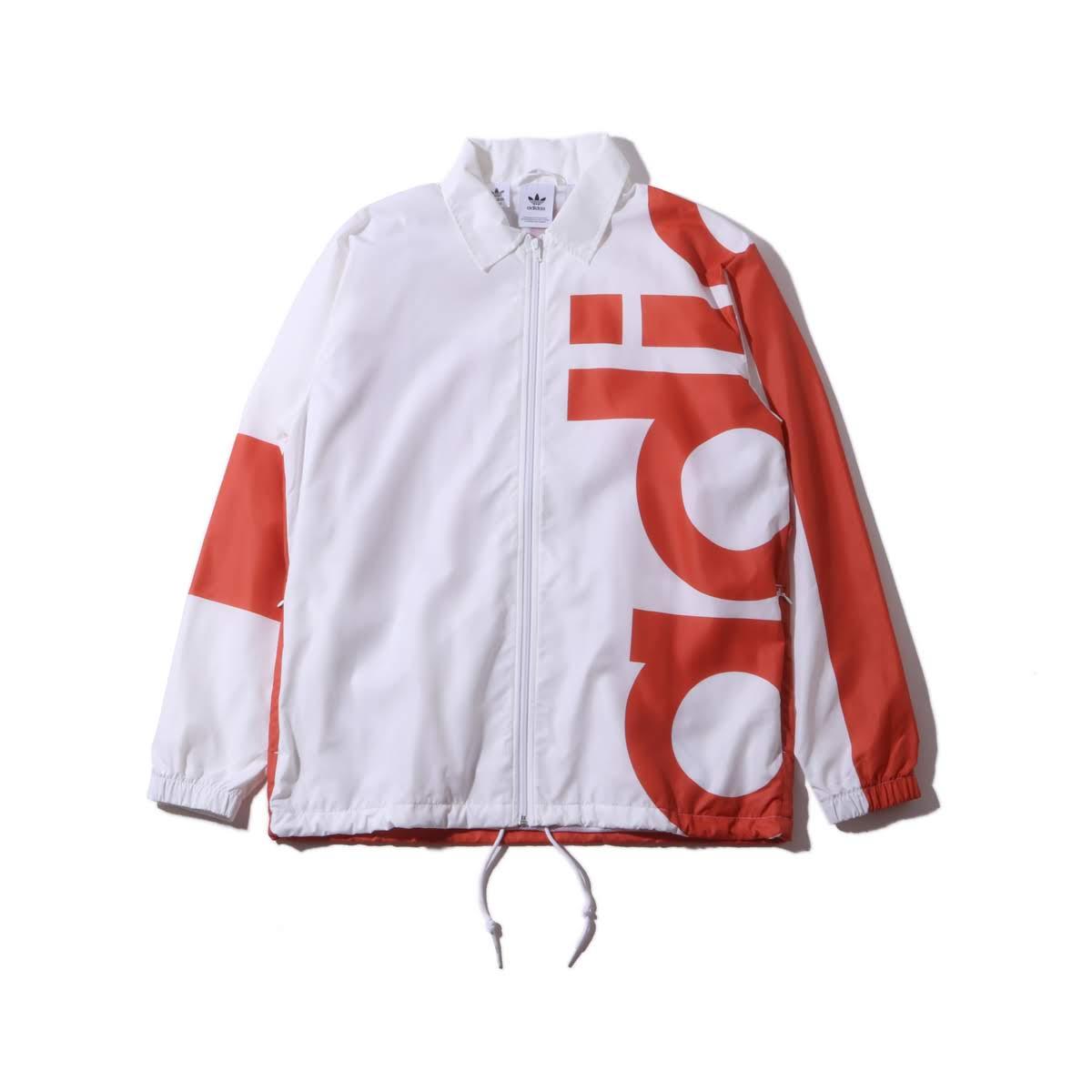 adidas Originals BIG ADI WINDBREAKER(アディダスオリジナルス ビッグ アディ ウインドブレイカー)WHITE/RAW AMBER【メンズ ジャケット】19SS-I