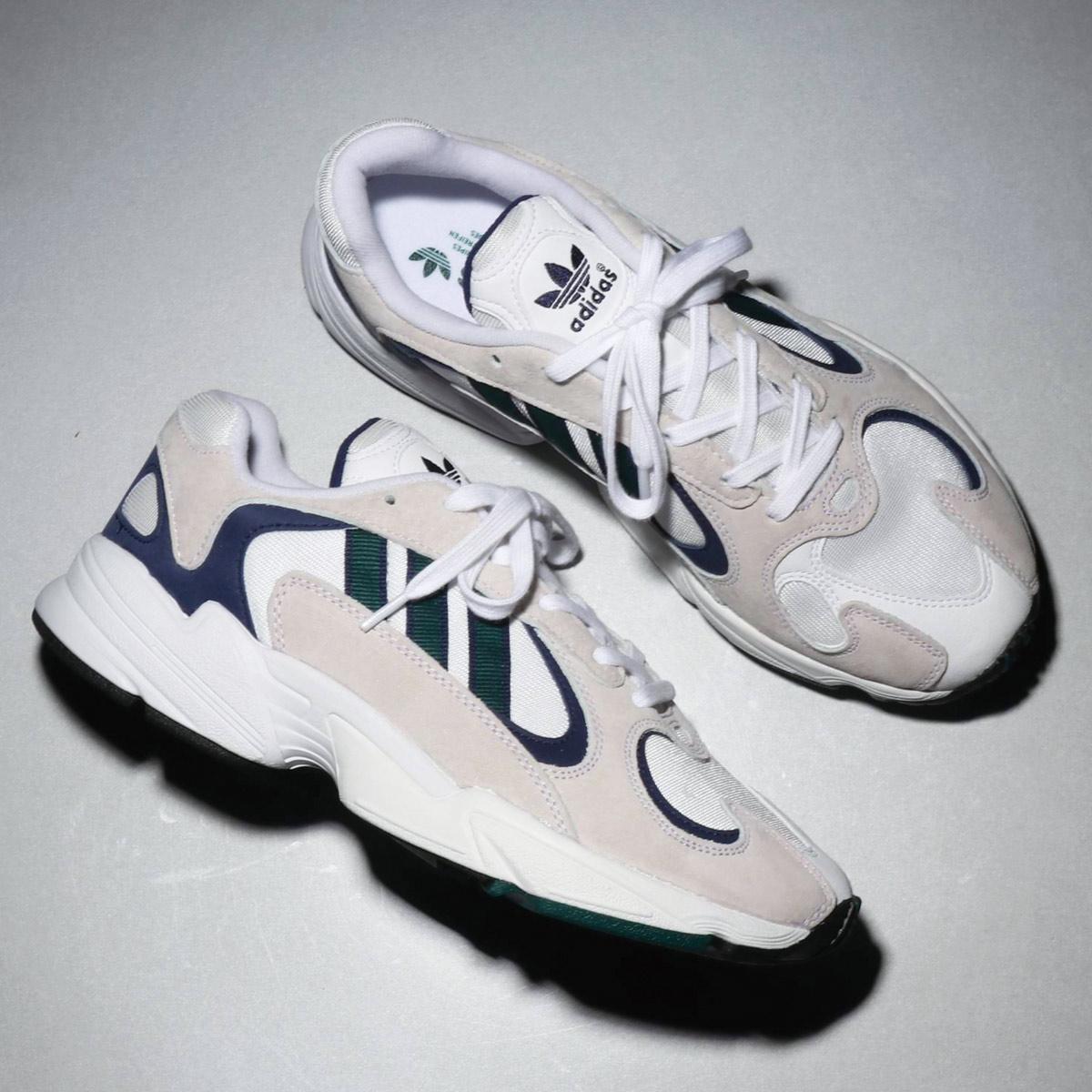 adidas Originals YUNG-1(アディダスオリジナルス ヤング-1)RUNNING WHITE/NOBLE GREEN/DARK BLUE【メンズ レディース スニーカー】18FW-S