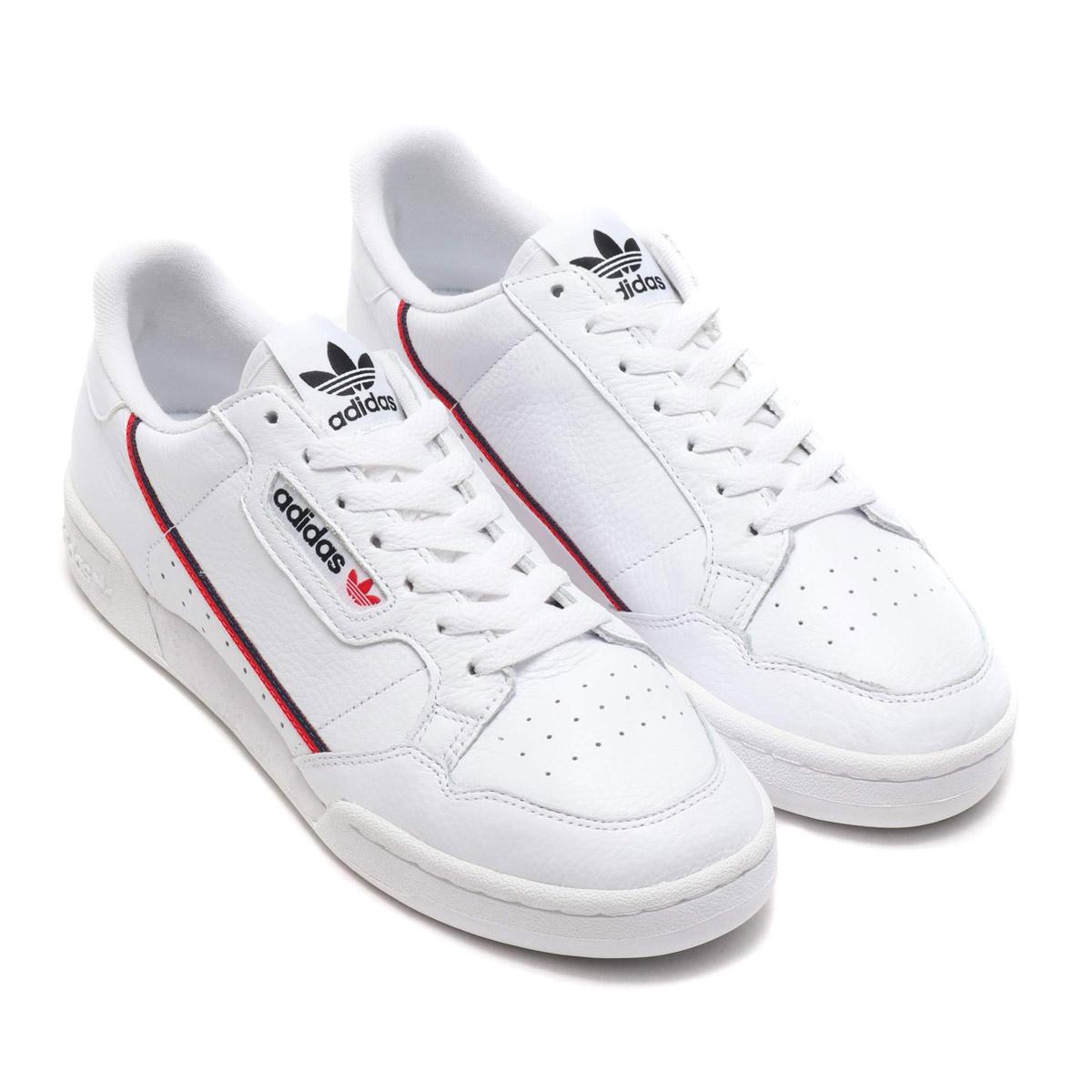 adidas Originals CONTINENTAL 80 (アディダスオリジナルス コンチネンタル 80)RUNNING WHITE/SCARLET/COLLEGE NAVY【メンズ レディース スニーカー】19SS-I