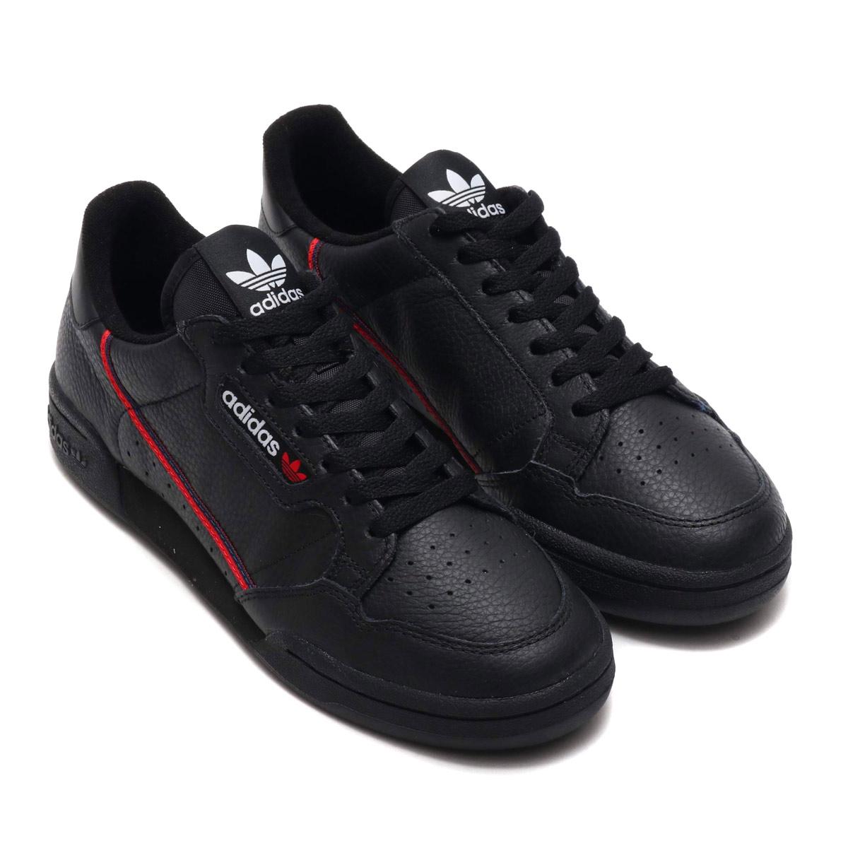 adidas Originals CONTINENTAL 80 (アディダスオリジナルス コンチネンタル 80)CORE BLACK/SCARLET/COLLEGE NAVY【メンズ レディース スニーカー】19SS-I
