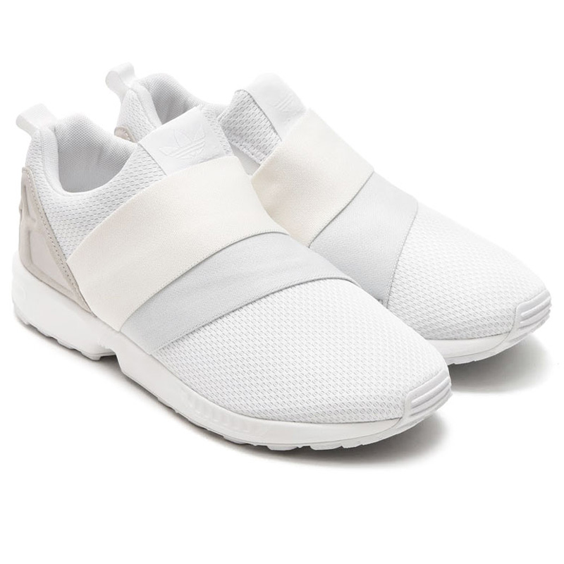 Adidas Zx Flux Slip On White