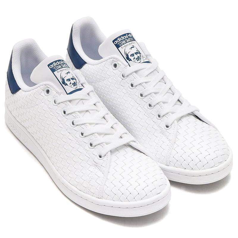 adidas Originals STAN SMITH (アディダス スタン スミス)RUNNING WHITE/RUNNING WHITE/MYSTERY BLUE【メンズ レディース スニーカー】17SS-I