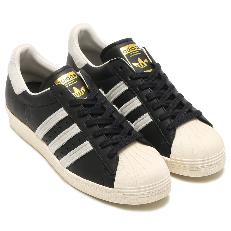 adidas Originals SUPERSTAR 80s (アディダス スーパースター 80s)CORE BLACK/RUNNING WHITE/GOLD METT【メンズ レディース スニーカー】17SS-I