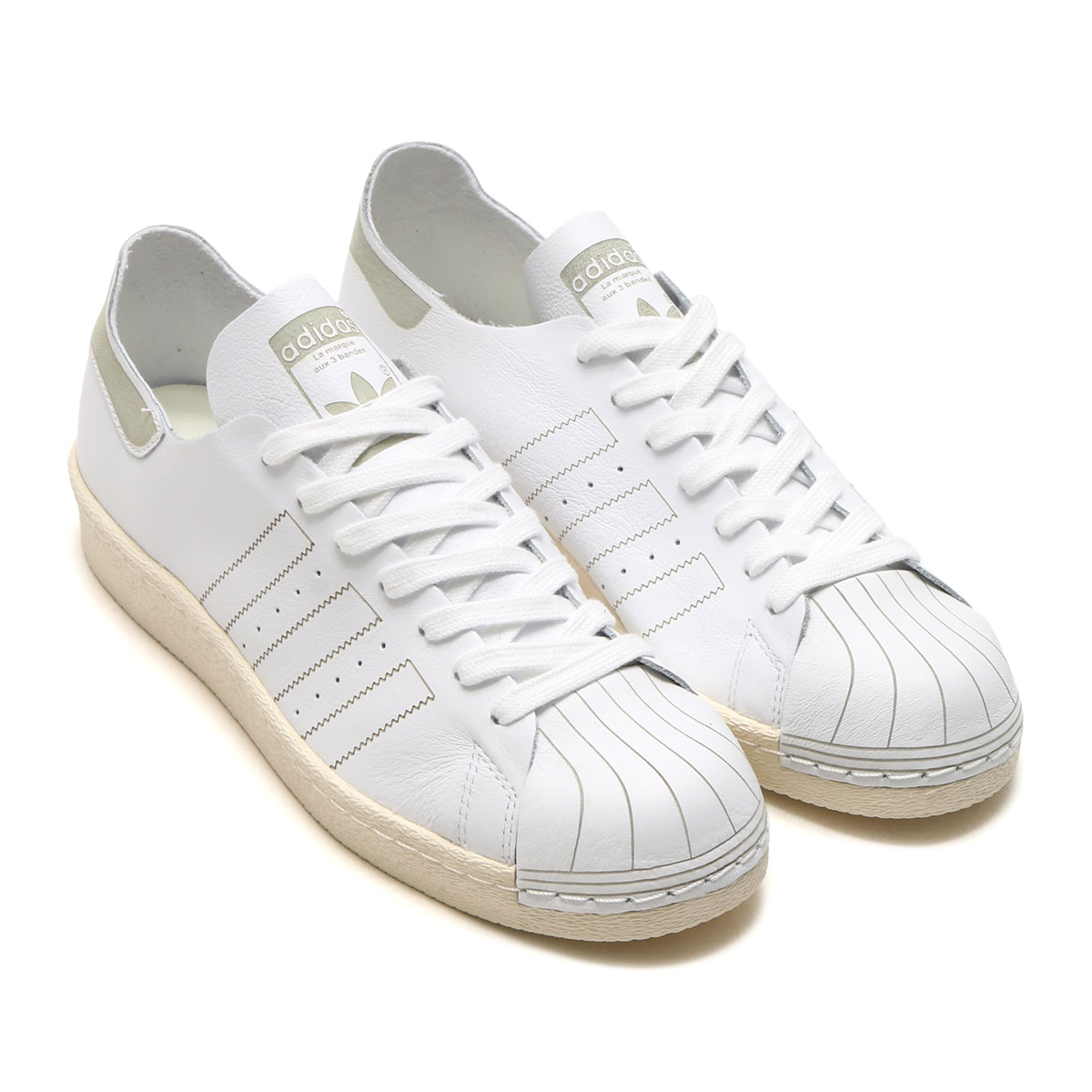 ADIDAS SUPERSTAR 80s PK PRIMEKNIT RAINBOW WHITE BLACK
