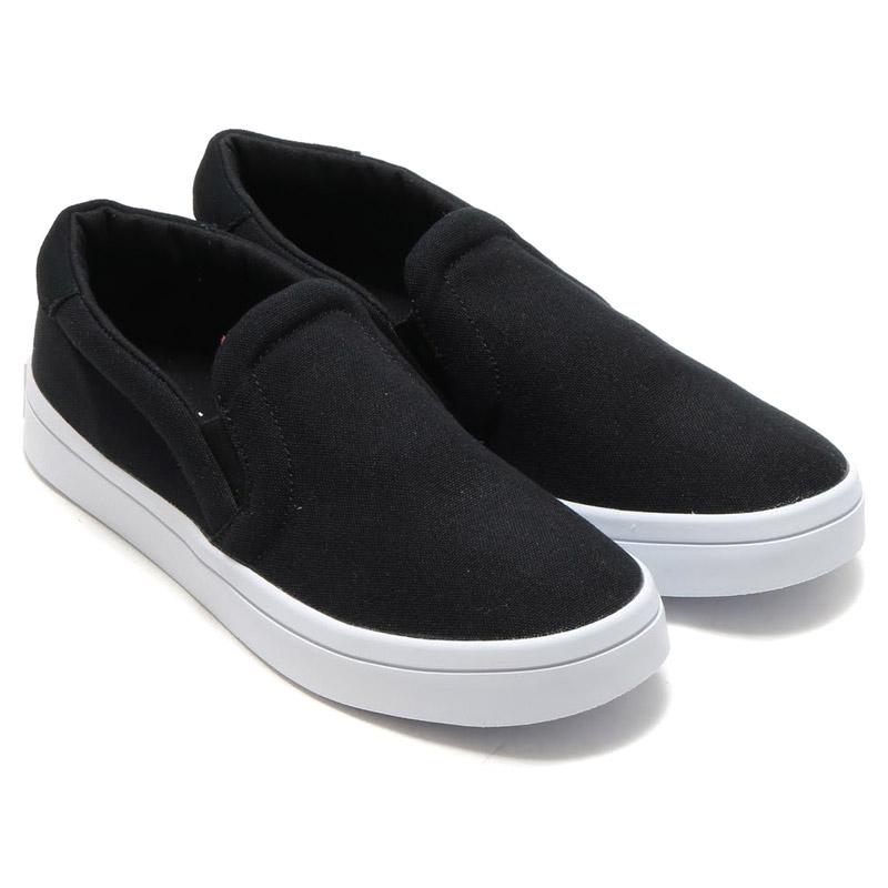 adidas court vantage slip on black