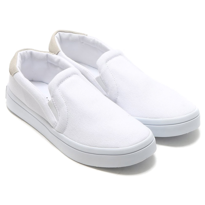 adidas court vantage slip on white
