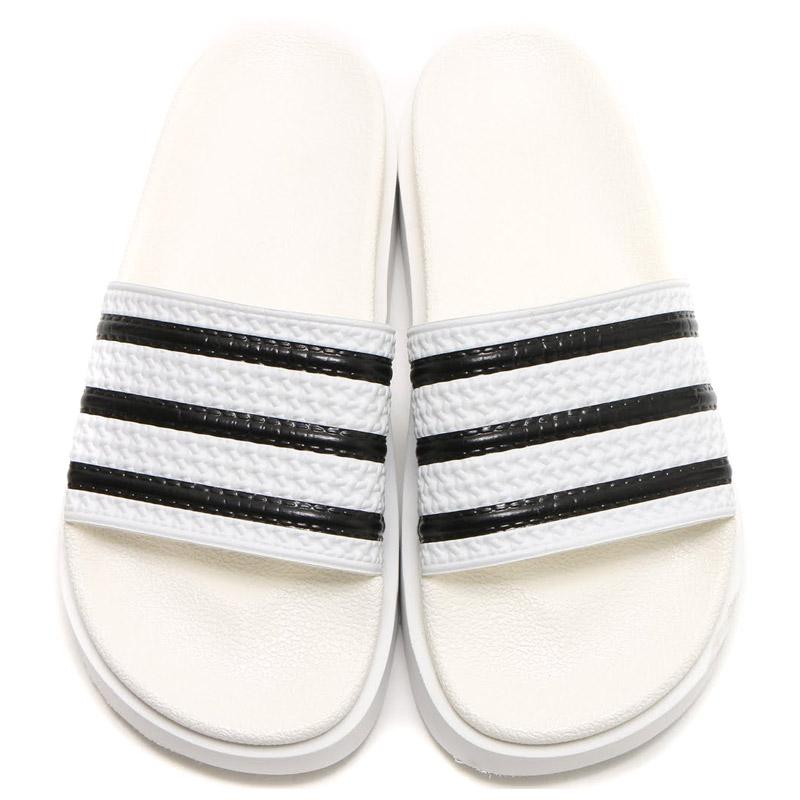 Adidas Originals ADILETTE BOLD W (아디다스 オリジナルス アディレッタ 대머리 여자) RUNNING WHITE/RUNNING WHITE/BLACK CORE 16SS-I