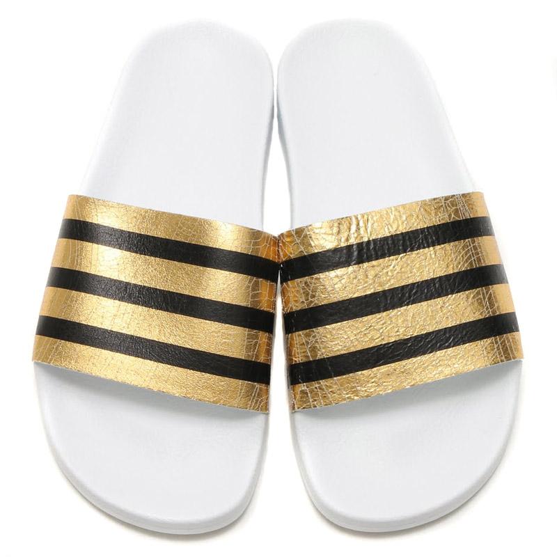 adidas Originals ADILETTE W (women's adidas originals adiliette) GOLD METT/RUNNING WHITE/RUNNING WHITE 16SS-I
