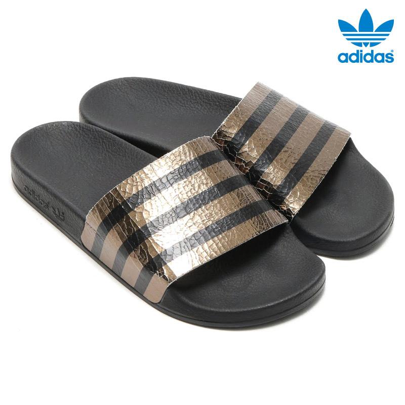adidas Originals ADILETTE W (아디다스오리지나르스아디렛타위멘즈) CORE BLACK 16 SS-I