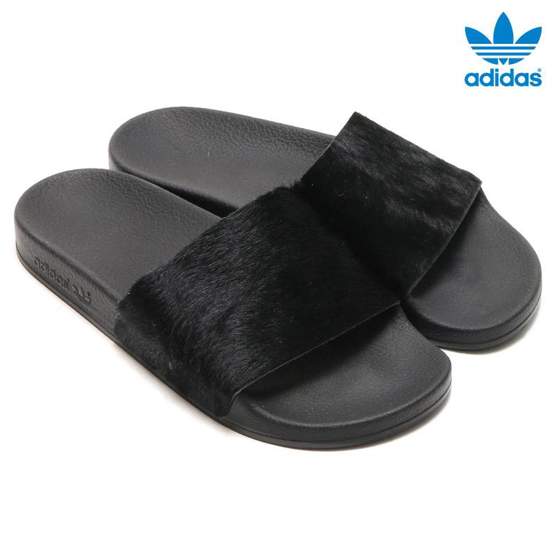 adidas Originals ADILETTE W womens adidas originals adiliette CORE BLACK CORE  BLACK CORE BLACK 16SSI