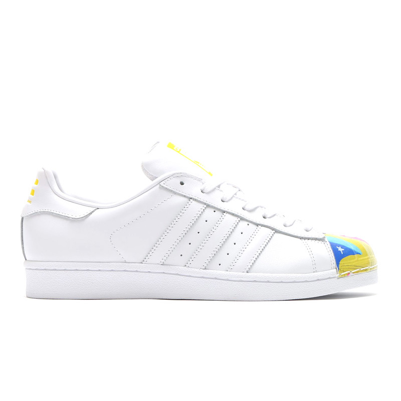 adidas Originals SUPERSTAR PHARRELL SUPERSHELL (adidas originals superstar Pharrell Super shell) BOLD BLUE/RUNNING WHITE/RED 15FW-I