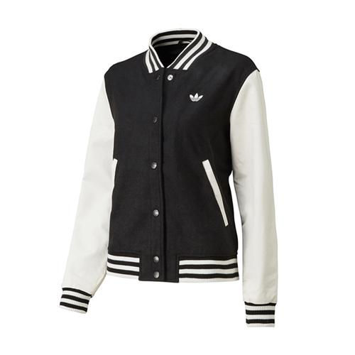 adidas Originals UNIV WOOL JACKET (University wool jacket, adidas originals) BLAC/white 13FW-I