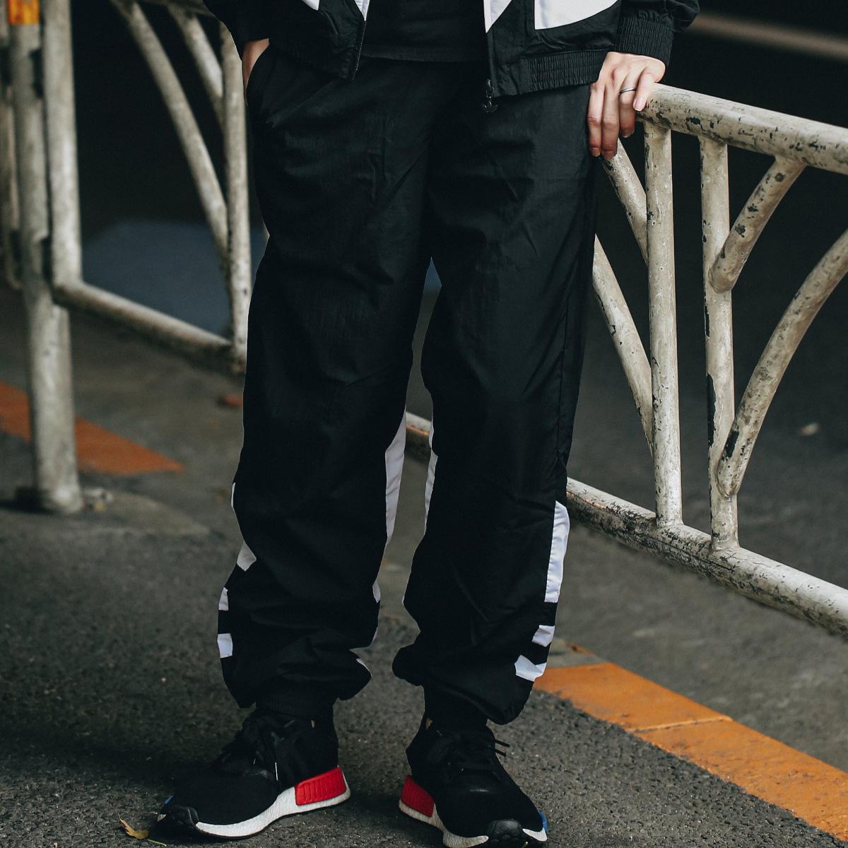 adidas BIG TREFOIL TRACK PANTS MEN(アディダス ビッグ トレフォイル トラックパンツ)BLACK【メンズ ロングパンツ】20SS-I