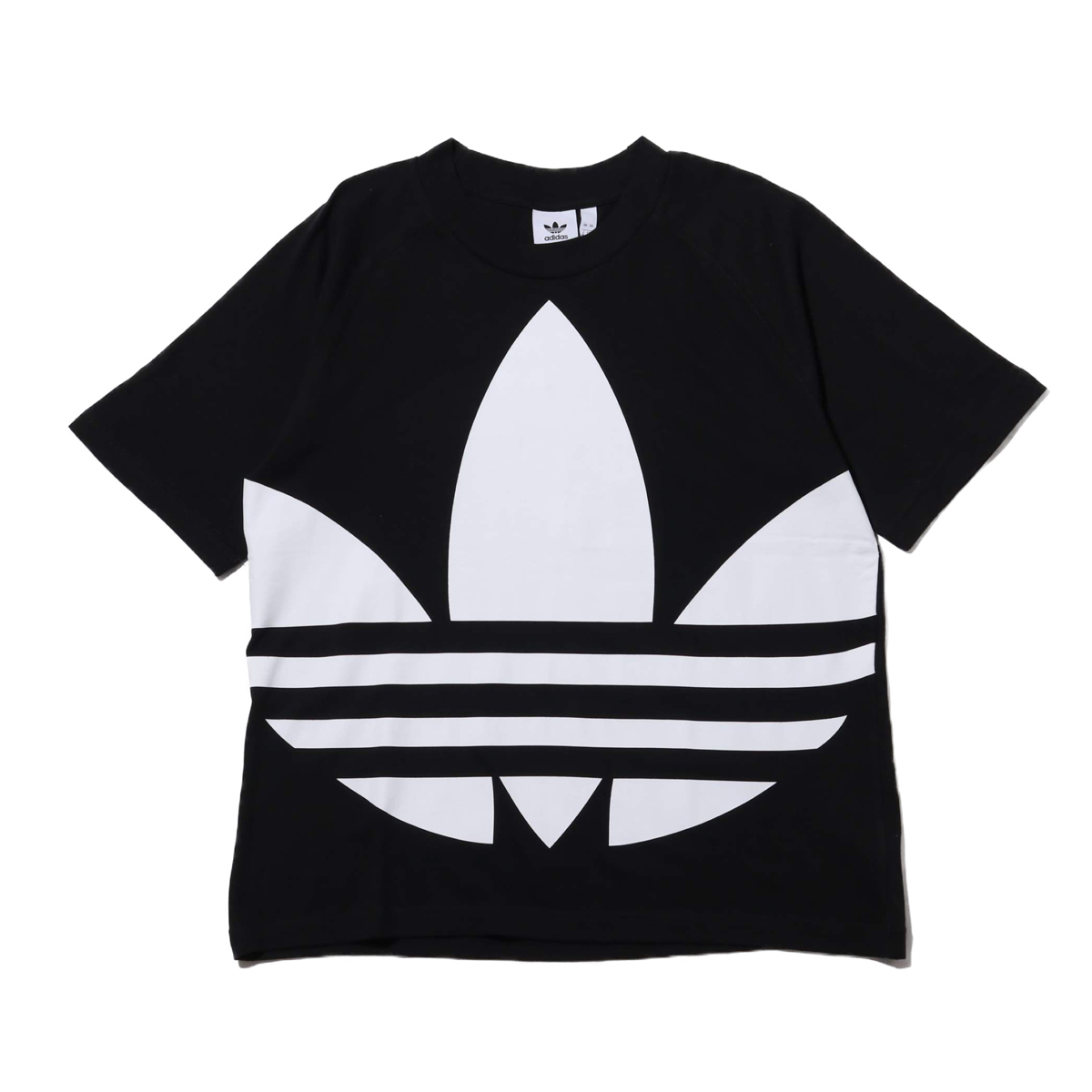 adidas BIG TREFOIL TEE(アディダス ビッグ トレフォイル Tシャツ)BLACK【メンズ 半袖Tシャツ】20SS-I