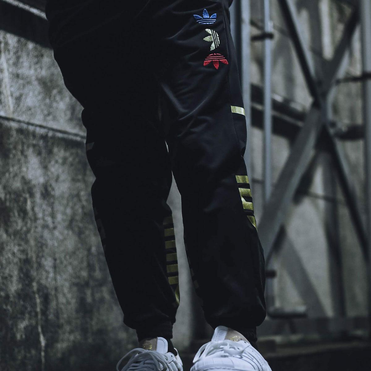 adidas REF/MET TRACK PANTS(アディダス トラックパンツ)BLACK/PLATINUM METRIC【メンズ ロングパンツ】20SS-S