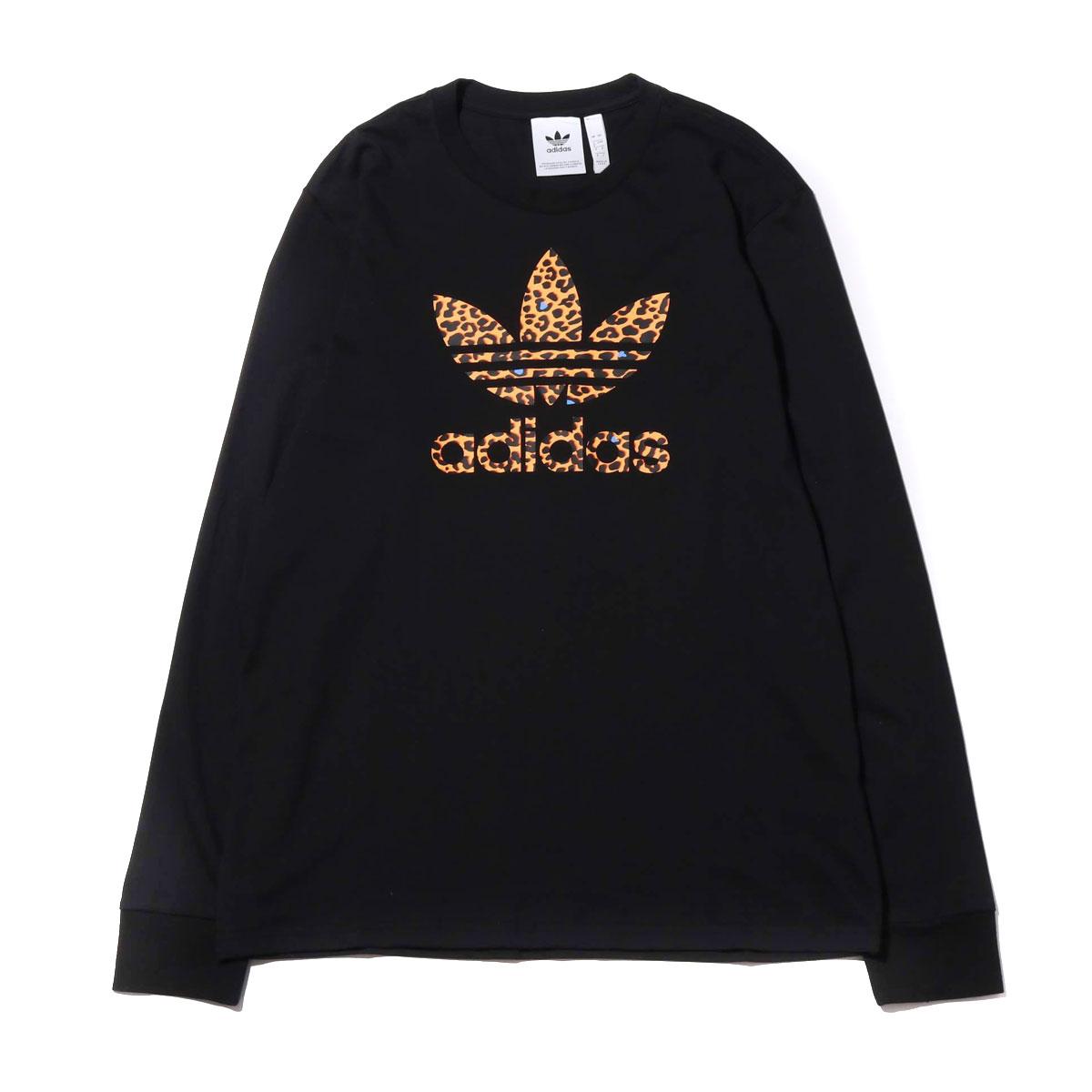 adidas LEPO TREFOIL LS TEE(アディダス レポ トレフォイル ロングスリーブ Tシャツ)BLACK【メンズ 長袖Tシャツ】19FW-I