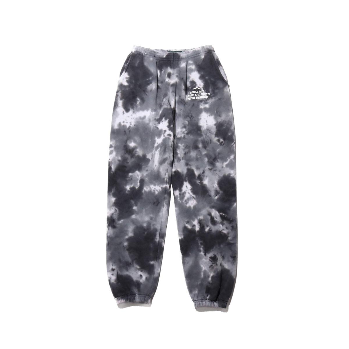 AFIELD OUT TIE DYE SWEAT PANTS(アフィールドアウト タイダイ フーディ スウェットパンツ)Black Tie Dye【メンズ ロングパンツ】20SU-I
