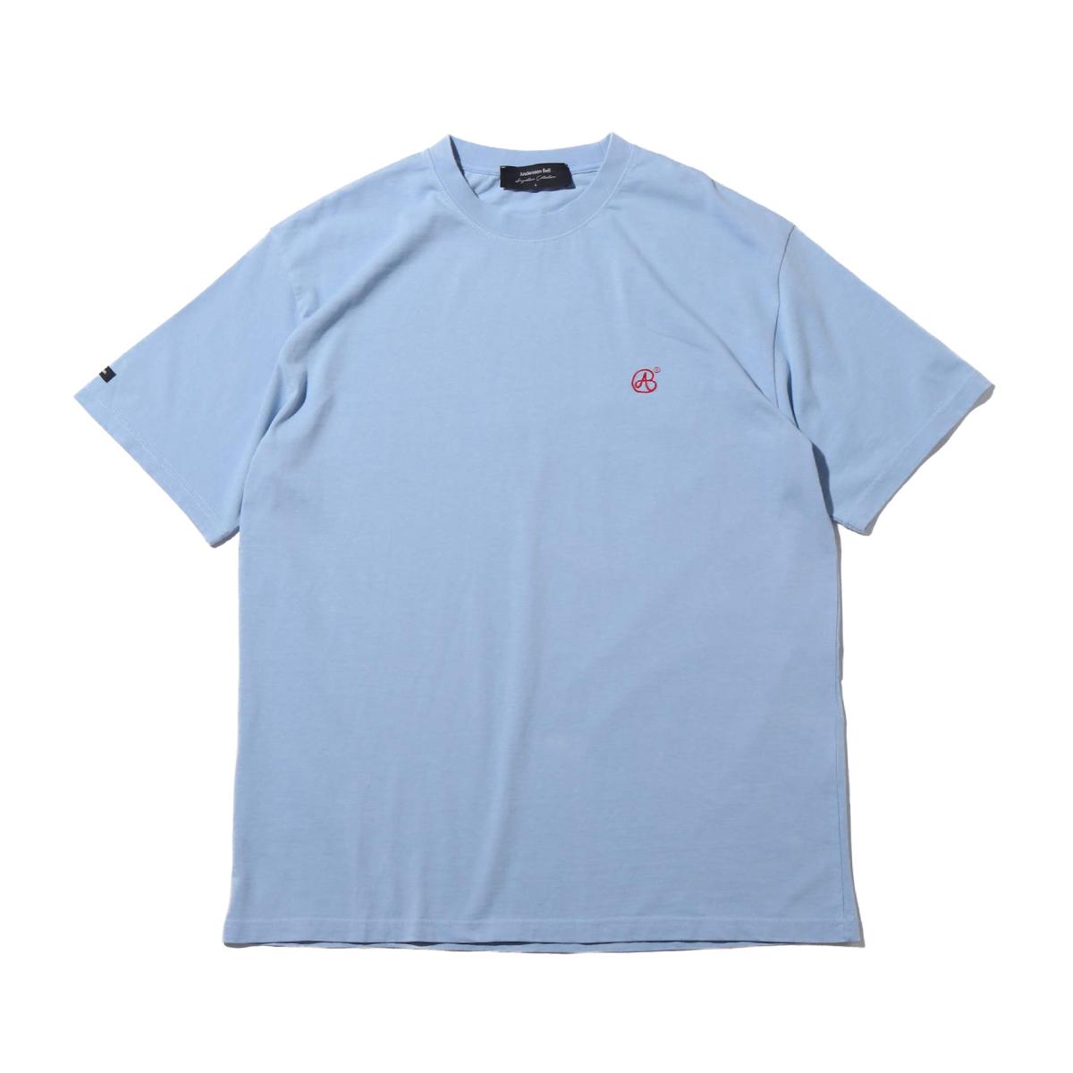 Andersson Bell UNISEX SIGNATURE EMBLEM T-SHIRT(アンダーソンベル シグネチャー エンブレム ティー)BLUE【メンズ レディース 半袖Tシャツ】19SU-I
