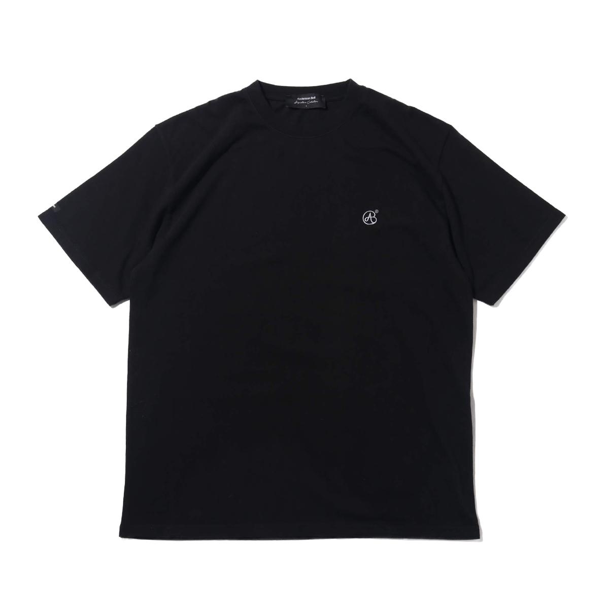 Andersson Bell UNISEX SIGNATURE EMBLEM T-SHIRT(アンダーソンベル シグネチャー エンブレム ティー)BLACK【メンズ レディース 半袖Tシャツ】19SU-I