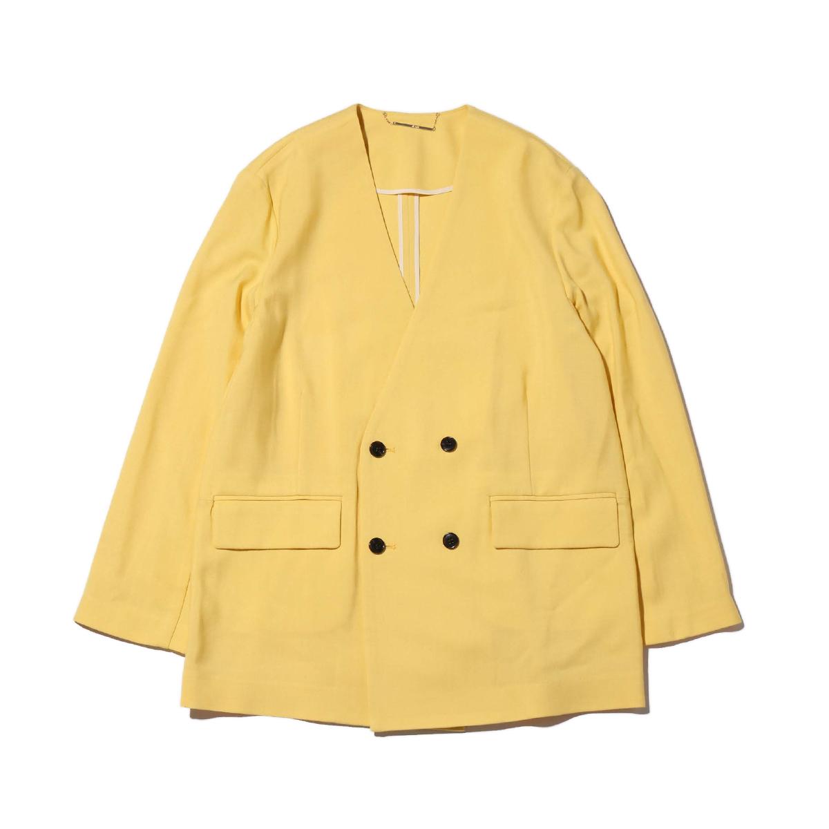atmos pink ノーカラー スーツ ジャケット(アトモスピンク ノーカラー スーツジャケット)YELLOW【レディース ジャケット】18FW-I