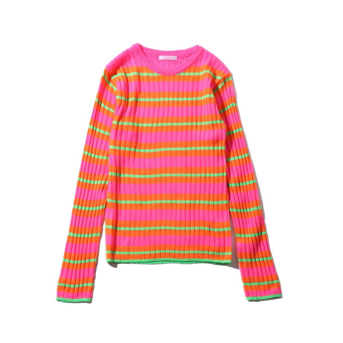 atmos pink ボーダートップス TX(アトモスピンク ボーダートップス TX)PINK【レディース 長袖Tシャツ】19FA-I