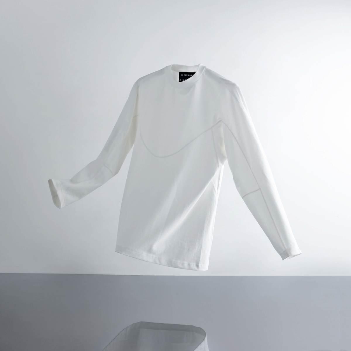 A-GIRLS ATMOS Pinnacle Long Sleeve Line Tee (エイガールズ アトモス ピナクル ロングスリーブ ティーシャツ) WHITE【メンズ Tシャツ】19SS-S