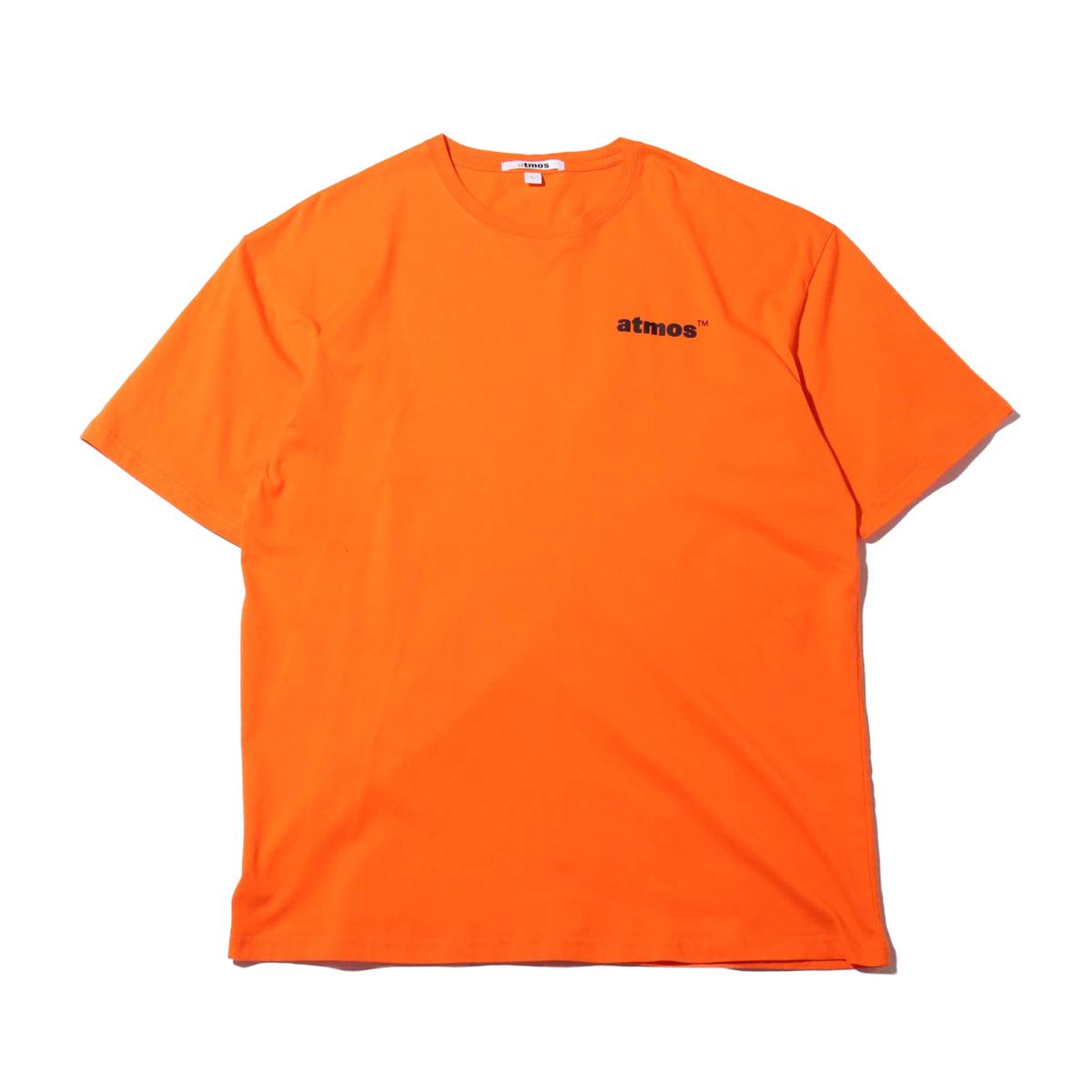 atmos SLOGAN COLLAGE PRINT T-SHIRT(アトモス スローガン カレッジプリント Tシャツ)ORANGE【メンズ レディース 半袖Tシャツ】19HO-I