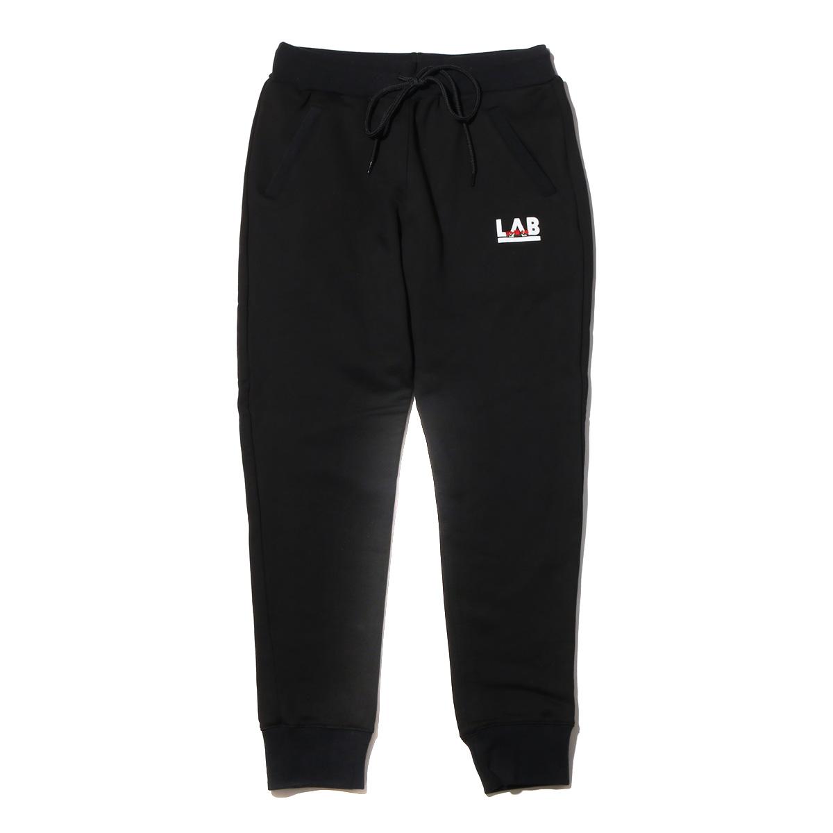 ATMOS LAB ROSE EMBROIDERY SWEAT PANTS (アトモス ラボ ローズ エンブロイダリー スウェット パンツ) BLACK【メンズ スウェットパンツ】18SS-I