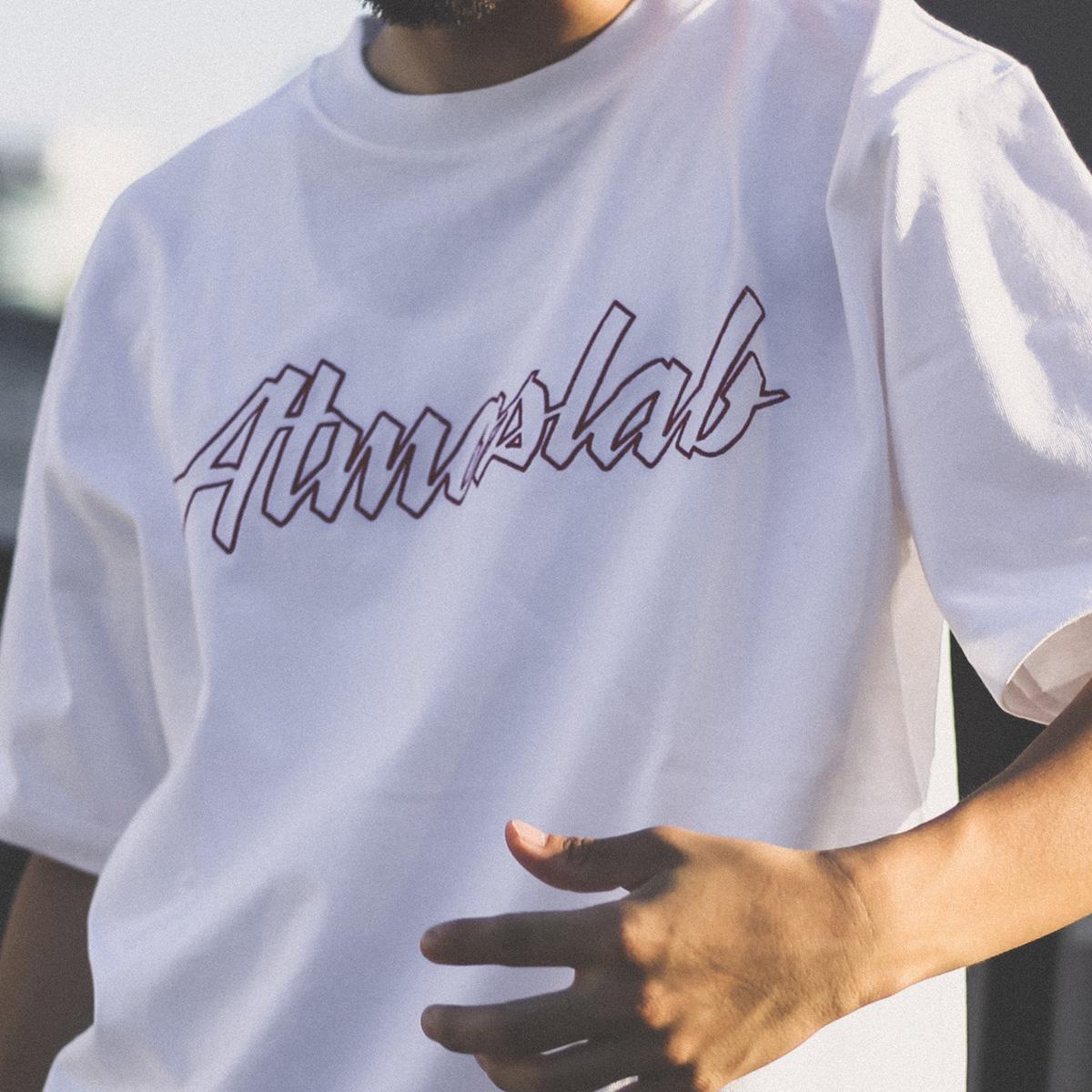 CHAMPION x ATMOS LAB BIG LOGO T-SHIRT(チャンピオン x アトモスラボ ビッグ ロゴ ティーシャツ)ホワイト【メンズ Tシャツ】18FW-I