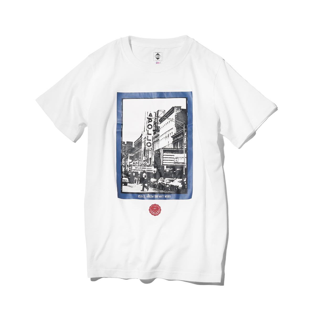 EXPANSION x ATMOS LAB HARLEM APOLLO TEE (アトモスラボ エクスパンション アトモスラボ ハーレム アポロ ティ) WHITE【メンズ Tシャツ】18SS-S