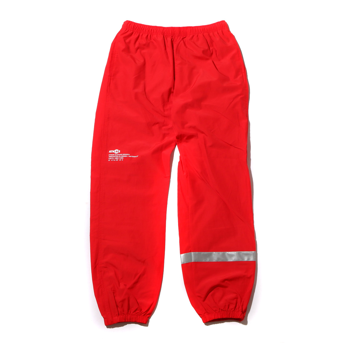ATMOS LAB REFLECTIVE C/N TRACK PANTS (アトモス ラボ リフレクティブ コットンナイロン トラックパンツ) RED【メンズ ナイロン パンツ】18SS-I