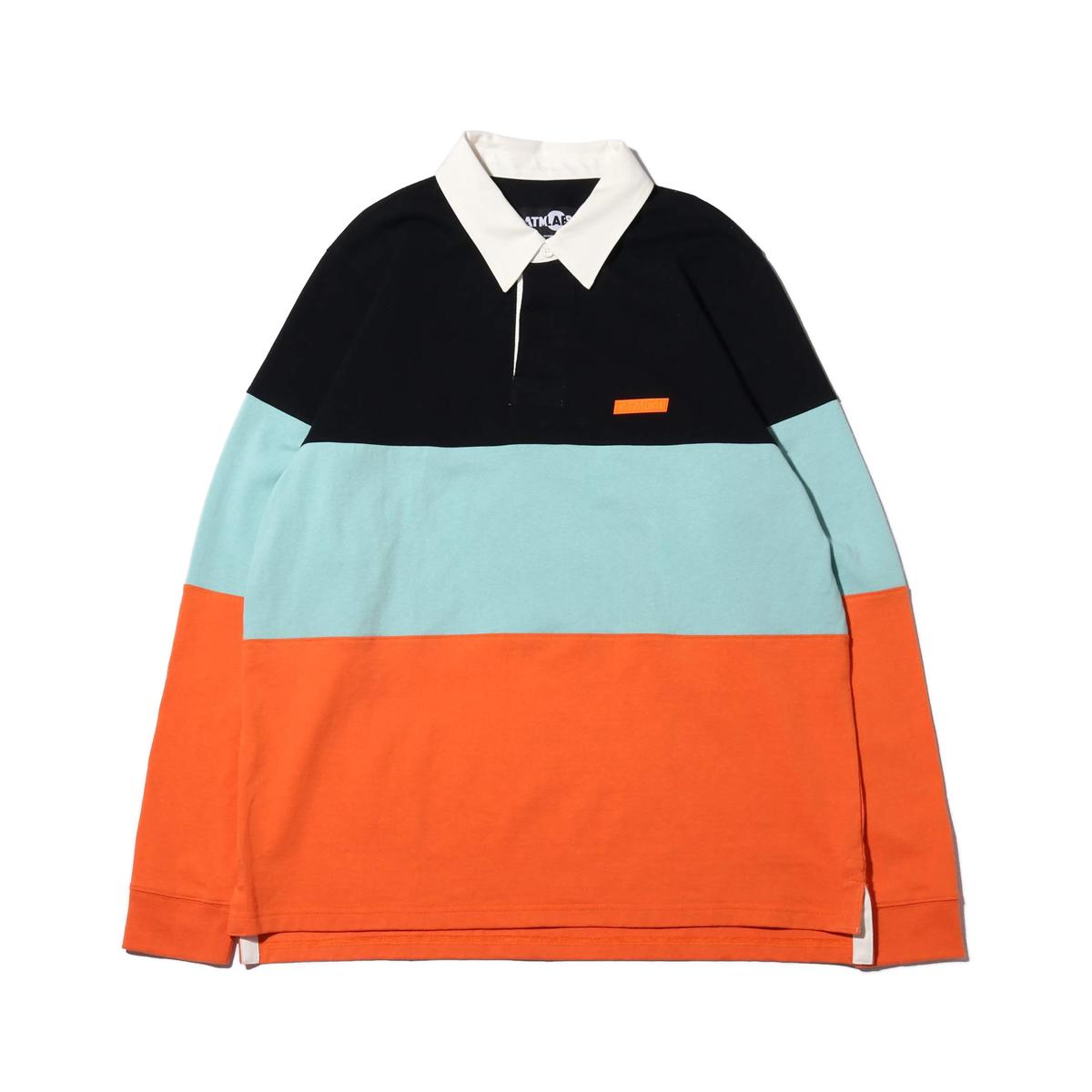 ATMOS LAB RUGBY SHIRT (アトモスラボ ラグビー シャツ)ORANGE【メンズ 長袖Tシャツ】19SP-I
