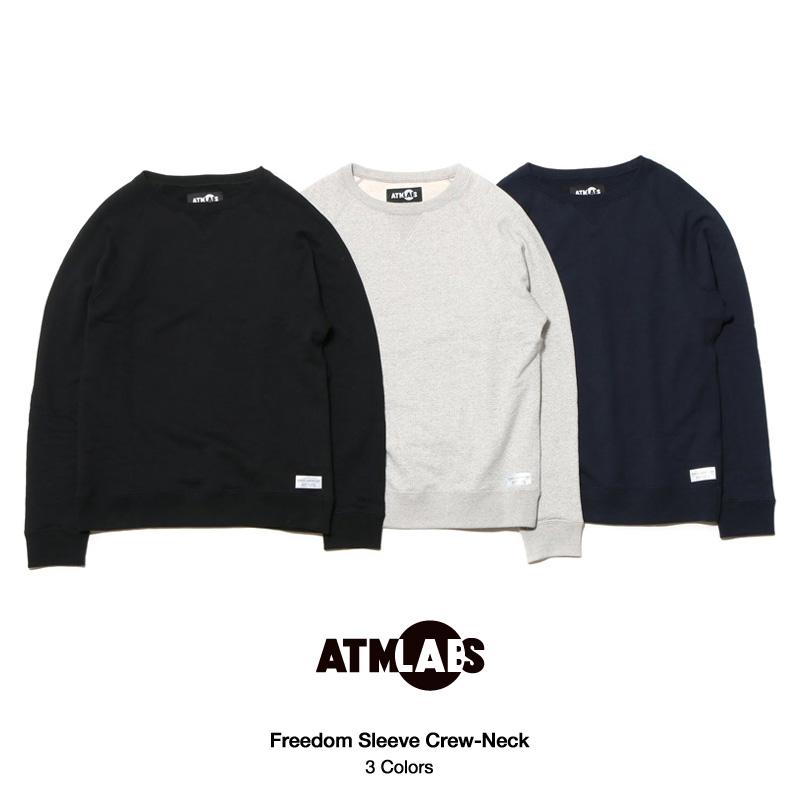 ATMOS LAB Freedom Sleeve Crew-Neck(アトモス ラボ フリーダム スリーブ クルー ネック)3色展開15FW-I