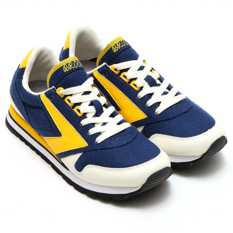 BROOKS MEN CHARIOT(ブルックス メン チャリオット)CREAM/NAVY/YELLOW15FW-I