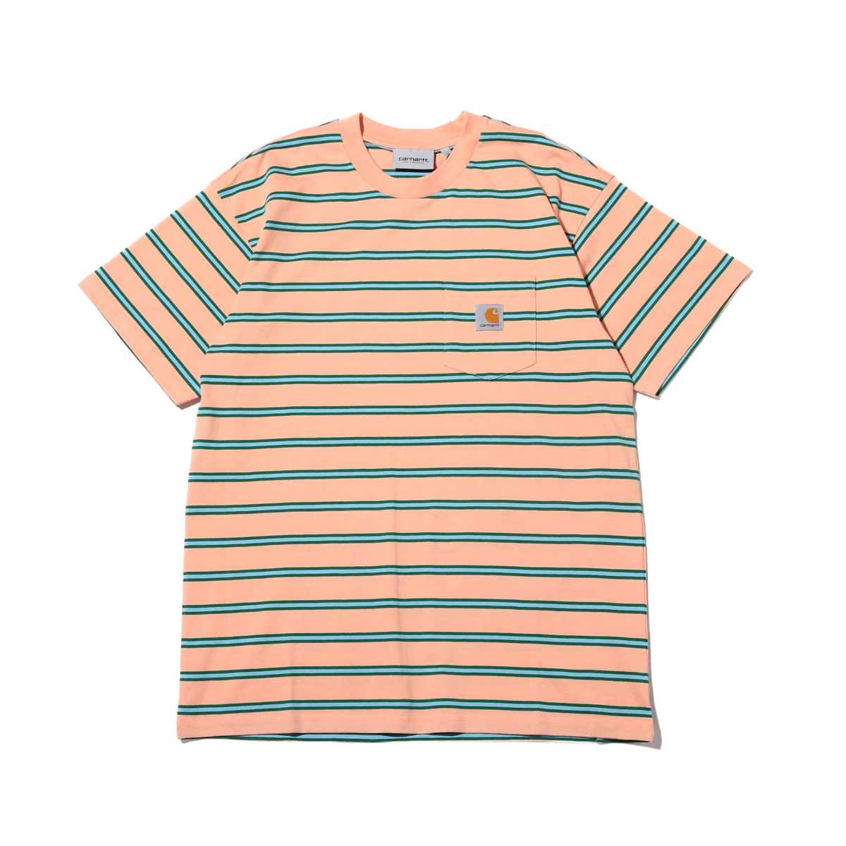 CARHARTT S/S HOUSTON POCKET T-SHIRT (カーハート ショートスリーブ ホーストン ポケット Tシャツ)LIGHTPINK【メンズ レディース 半袖Tシャツ】19SS-I