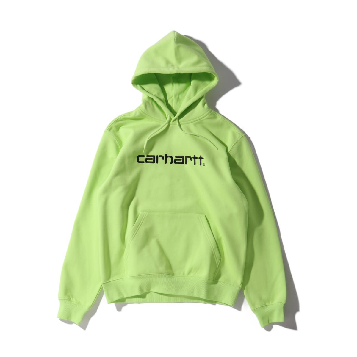 CARHARTT HOODED CARHARTT SWEATSHIRT(カーハート フーデッド カーハート スウェット シャツ)LIME【メンズ スウェット】20SS-I