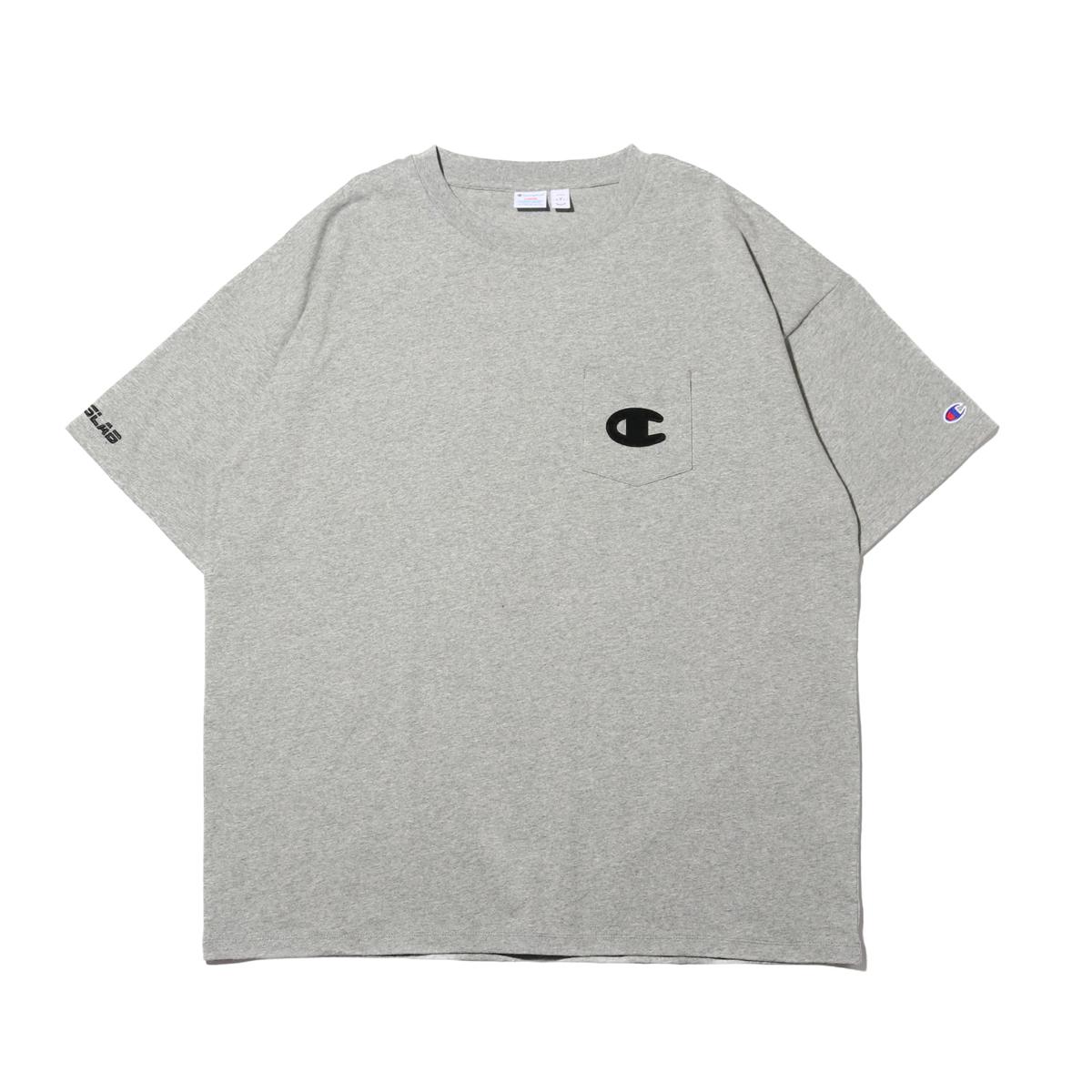 CHAMPION x ATMOS LAB LAB S/S POCKET T-SHIRT (チャンピオン × アトモスラボ ショートスリーブ ポケット ティーシャツ)オックスフォードグレー【メンズ Tシャツ】19SP-S