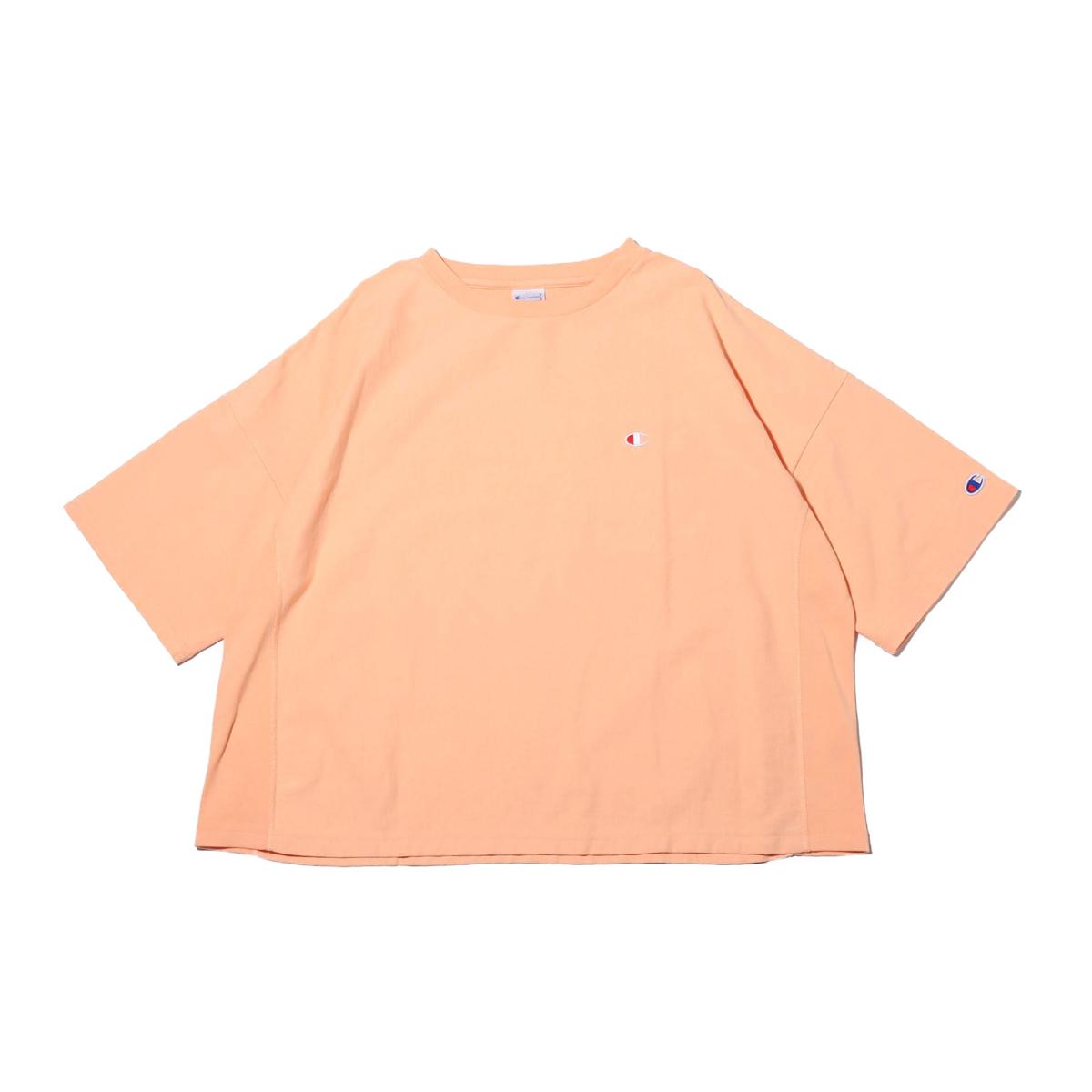 Champion RW T-SHIRT (チャンピオン リバースウィーブ ティーシャツ)サーモンピンク【レディース 半袖Tシャツ】19SP-I