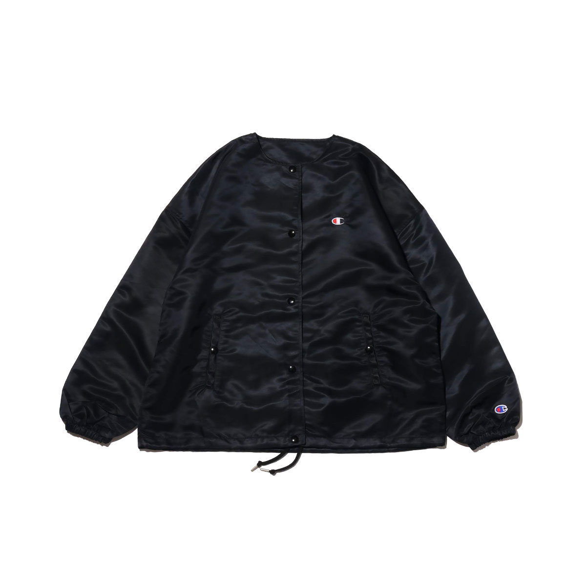 Champion SATIN JACKET (チャンピオン サテン ジャケット)ブラック【レディース ジャケット】19SP-I