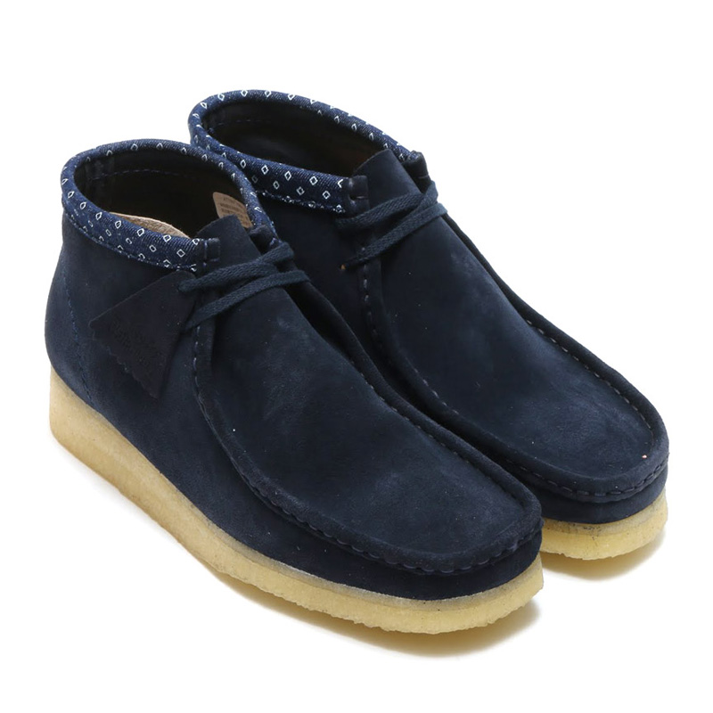 d81c978b Clarks Originals DESERT WALLABEE BOOT (Wallaby Clarks originals desert boots)  NAVY/MULTI 15FW ...