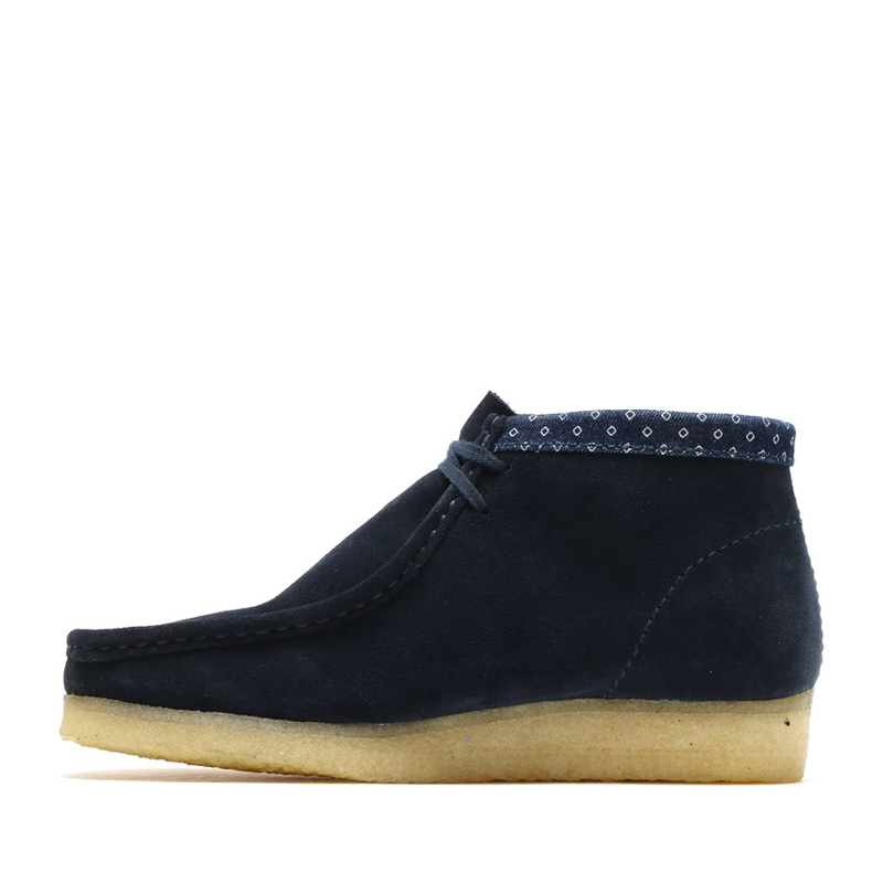 298cac03 ... Clarks Originals DESERT WALLABEE BOOT (Wallaby Clarks originals desert  boots) NAVY/MULTI 15FW ...