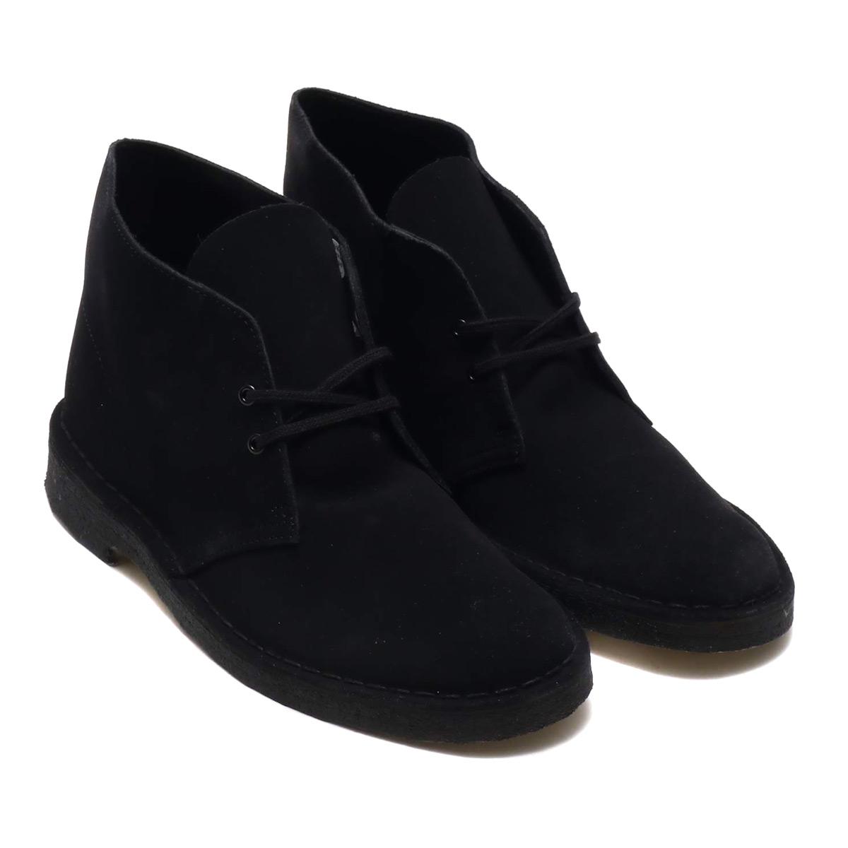 Clarks Desert Boot (クラークス デザート ブーツ)Black Suede【メンズ ブーツ】18FW-I