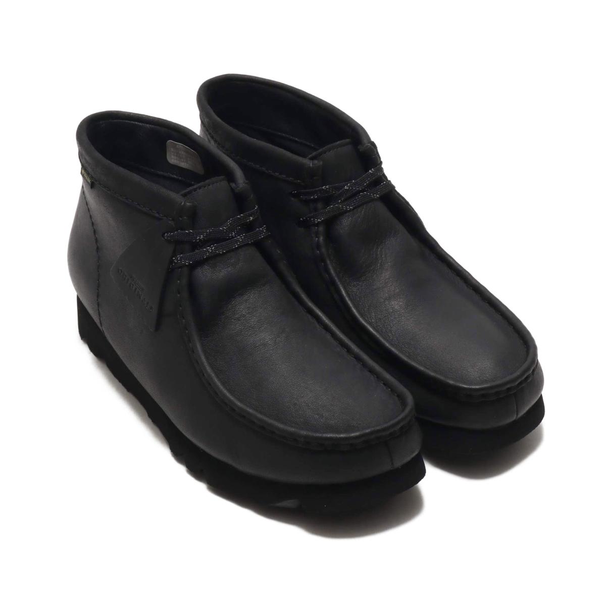 Clarks WALLABEE BT GTX(クラークス ワラビーブーツ GTX)BLACK LEATHER【メンズ ブーツ】19FA-I